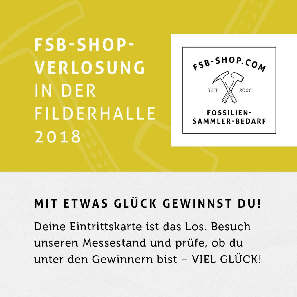 FSB Shop Gewinnspiel auf der Fossilien-Börse 2019