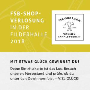 FSB Shop Gewinnspiel auf der Fossilienbörse 2018 der Fossilien Messe