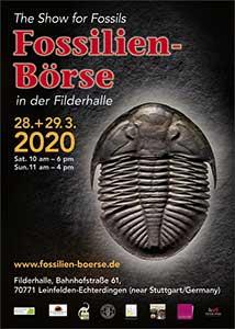Plakat der Fossilien Börse 2020