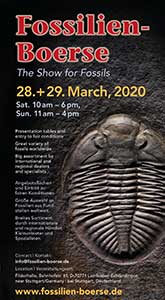 The Fossil show Flyer for the Fossilien-Boerse 2020.