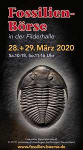Flyer der Fossilien Börse 2020