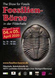 Fossilien Börse 2020 Plakat mit neuem Datum