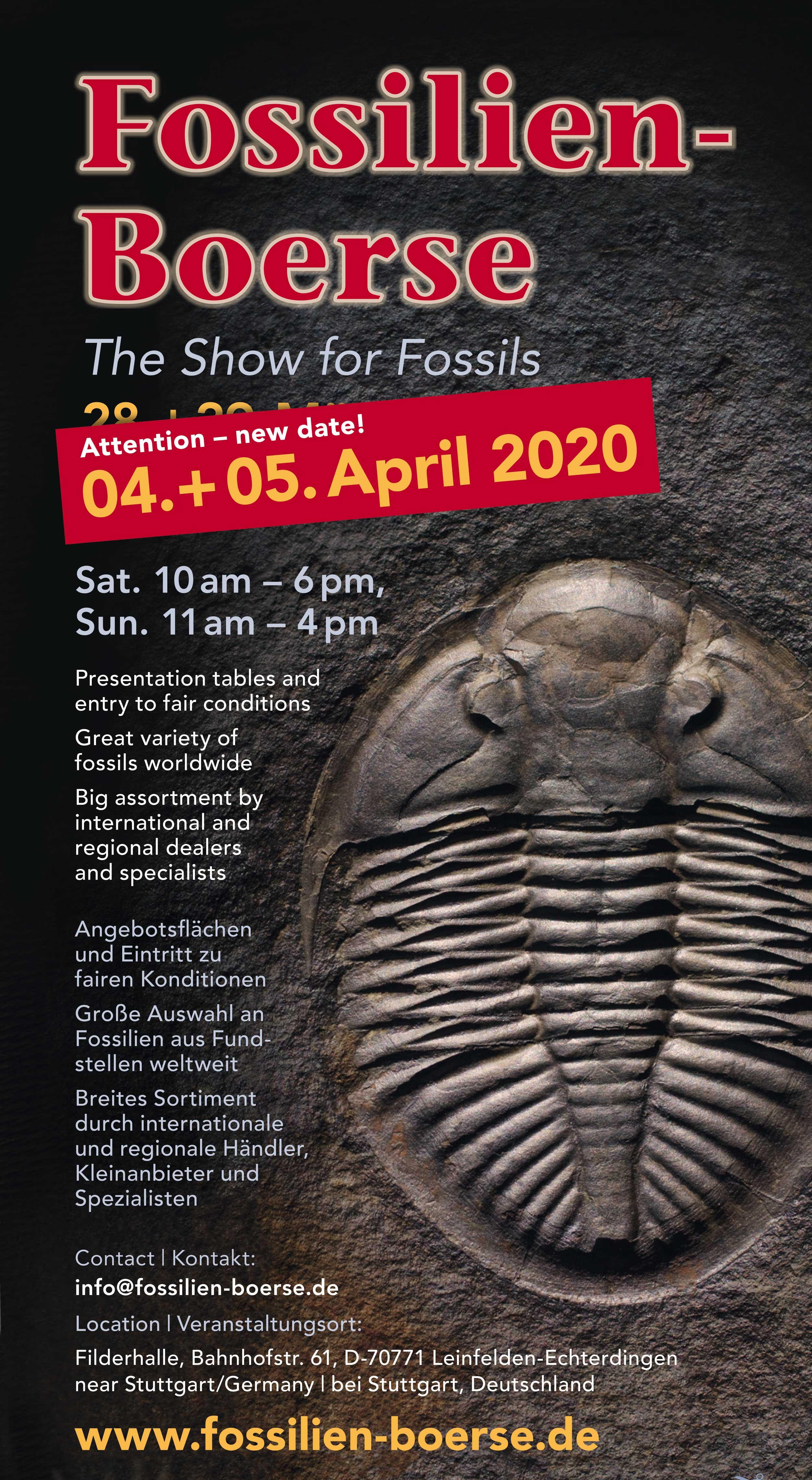 Fossils Show 2020 - New Date Fyler EN
