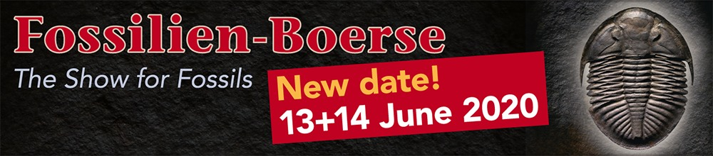 "New Fossil Show date in Summer for the ""Fossilien-Boerse"" on June 13-14, 2020."