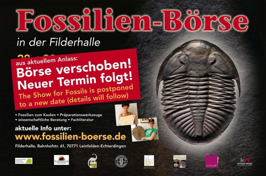 Fossilien Messe Termin 04. – 05. April offiziell Abgesagt.